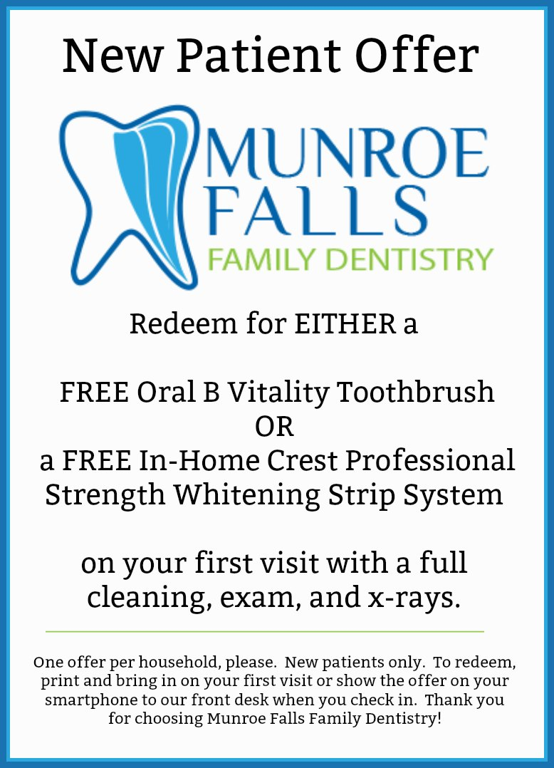 new patient offer munroe falls family dentistry