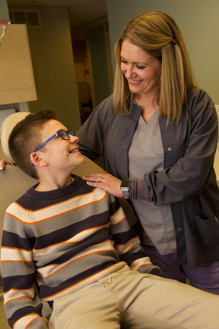 boy gets dental emergency attention from Dr. Mica Bartels